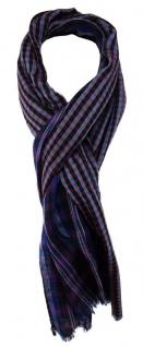 TigerTie Schal in blauviolett schwarz bordeaux silber blau gemustert