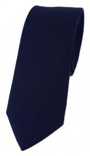 schmale TigerTie Designer Krawatte Pique in marine gemustert - 100% Baumwolle