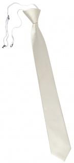 TigerTie Sicherheits Krawatte weiß perlweiß creme cremeweiß einfarbig Uni Rips