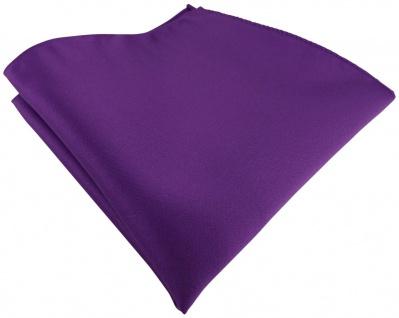 TigerTie Satin Einstecktuch in lila einfarbig Uni - Größe 26 x 26 cm