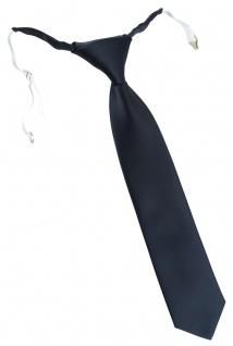 TigerTie Designer Security Sicherheits Krawatte in anthrazit Uni mit Gummizug