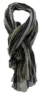 gecrashter TigerTie Chiffon Schal schwarz braun beige gemustert - 180 x 100 cm