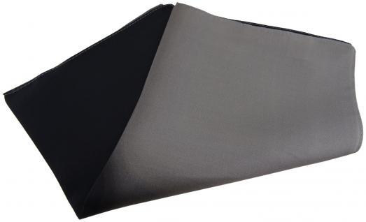 Multi TigerTie Designer Seideneinstecktuch in schwarz anthrazit dunkelgrau Uni
