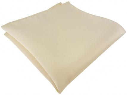 TigerTie Satin Einstecktuch in beige einfarbig Uni - Größe 26 x 26 cm