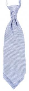 TigerTie Plastron Pique 2tlg Krawatte + Einstecktuch in blau-weiss gemustert - Vorschau 2