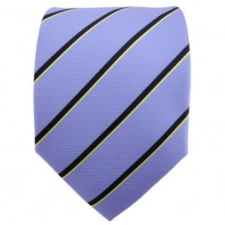 TigerTie Designer Krawatte hellblau schwarzblau gold gestreift - Binder Tie - Vorschau 2