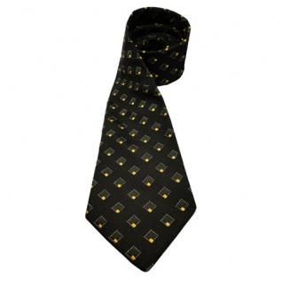 Mexx Seidenkrawatte grün dunkelgrün gelb gold gemustert - Krawatte 100 % Seide