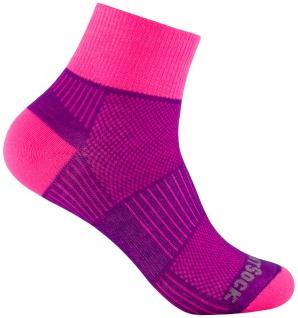 WRIGHTSOCK Profi Sportsocke Coolmesh II plum pink anti-blasen - mittellang Gr.S