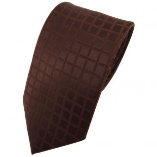 Designer Seidenkrawatte braun dunkelbraun kariert - Krawatte Seide Binder