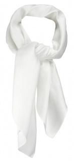 TigerTie Nickituch Kopftuch Halstuch Pique weiss uni - Größe 70 x 70 cm