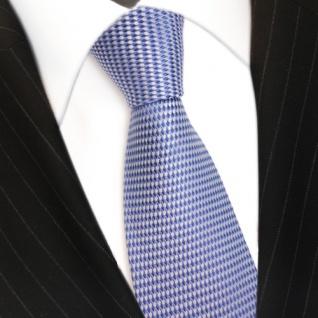 Designer Seidenkrawatte blau hellblau silber gemustert - Krawatte Schlips Binder - Vorschau 3