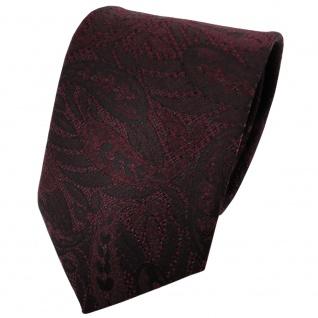 Designer Krawatte dunkelrot schwarz gemustert Glitzer - Schlips Binder