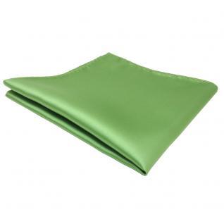 TigerTie Einstecktuch grün hellgrün gelbgrün einfarbig - Tuch Polyester