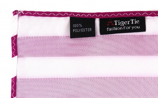 TigerTie Einstecktuch in magenta weiss gestreift - Stecktuchgröße 30 x 30 cm - Vorschau 3