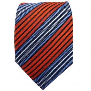 TigerTie Krawatte orange blau schwarz silber gestreift - Binder Tie - Vorschau 2