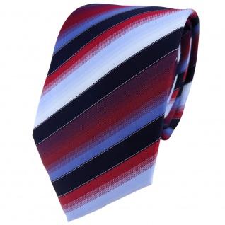TigerTie Designer Krawatte in rot bordeaux blau hellblau marine gestreift