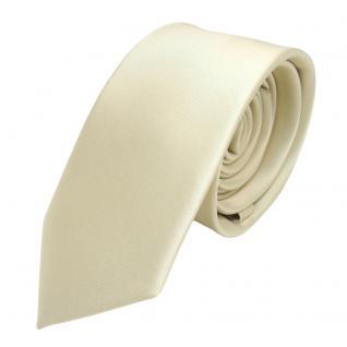 schmale TigerTie Satin Krawatte beige gelbbeige champagner einfarbig - Binder