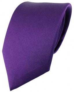 schöne Designer Seidenkrawatte in lila violett Uni - Krawatte 100% Seide