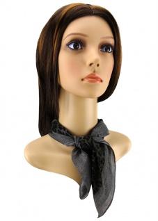 Damen Nickituch in schwarz braun grau gemustert - Gr. 50 x 50 cm - Tuch Halstuch