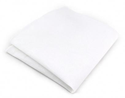 TigerTie Einstecktuch weiss unicolor - 100% Baumwolle - Einstecktuch 26 x 26 cm
