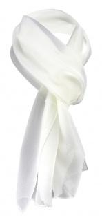 TigerTie Damen Chiffon Halstuch creme beige Uni Gr. 160 cm x 36 cm - Schal