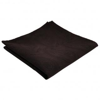 TigerTie Einstecktuch braun dunkelbraun paisley - Tuch Polyester