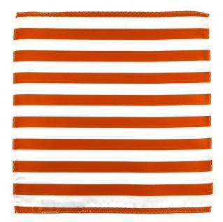 TigerTie Einstecktuch in orange weiss gestreift - Stecktuchgröße 30 x 30 cm - Vorschau 2