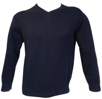 Ben Green Pullover V-Ausschnit in marine dunkelblau Premium Cotton Langarm GR. M - Vorschau 2