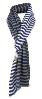 TigerTie Schal in blau dunkelblau marine braun gestreift - Tuch Gr. 180 x 50 cm