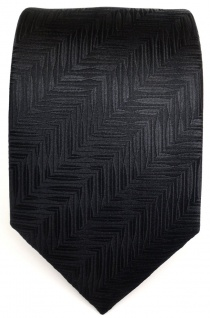 Designer Krawatte schwarz mit Muster pure Seide / Silk - Vorschau 2