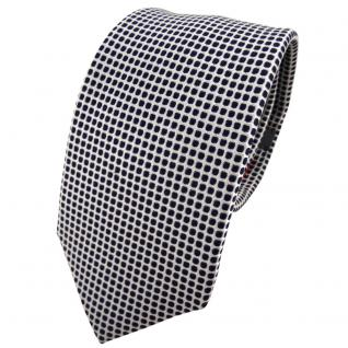 Enrico Sarto Seidenkrawatte blau dunkelblau silber gemustert - Krawatte Seide