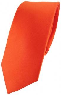 schmale TigerTie Designer Satin Seidenkrawatte in orange - Krawatte Seide Silk