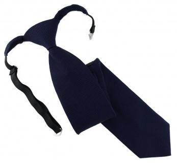 TigerTie Designer Security Sicherheits Krawatte Pique in marine uni gemustert