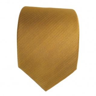 Schicke TigerTie Seidenkrawatte gelb gold gestreift - Krawatte Seide Binder Tie - Vorschau 2