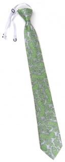 TigerTie Security Sicherheits Krawatte in grün silber Paisley gemustert