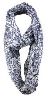 TigerTie Designer Loop Schal in marine dunkelblau grau gemustert