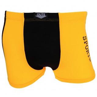 Shorts Boxershorts Unterhose Pants Retro gelb schwarz Baumwolle Gr.XL