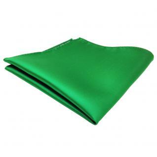 schönes TigerTie Einstecktuch grün leuchtgrün einfarbig - Tuch Polyester