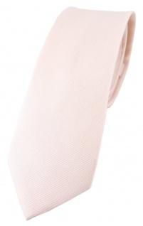 schmale TigerTie Krawatte zartrosa Uni - 100% Baumwolle - Krawattenbreite 6 cm