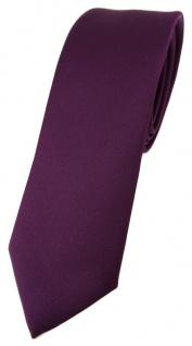 schmale TigerTie Designer Krawatte bordeauxviolett einfarbig Uni - Tie Schlips