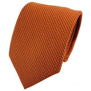 Designer Krawatte orange schwarz karostruktur - Tie Schlips