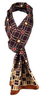 TigerTie Unisex Halstuch braun bordeauxviolett creme gemustert Gr. 160 x 36 cm