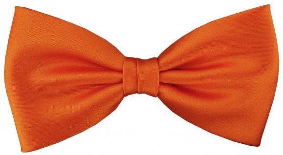 vorgebundene TigerTie Fliege Schleife in orange Einfarbig Uni + Geschenkbox