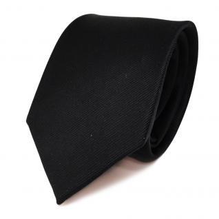 gewebte TigerTie Seidenkrawatte uni Rips schwarz - Krawatte Tie 100 % Seide Silk