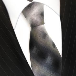 Designer Seidenkrawatte anthrazit grau schwarz kariert gestreift - Krawatte Seide - Vorschau 3