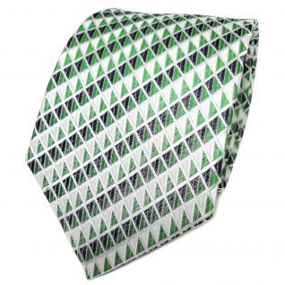 TigerTie Designer Seidenkrawatte grün silber royal gemustert- Krawatte Seide Tie