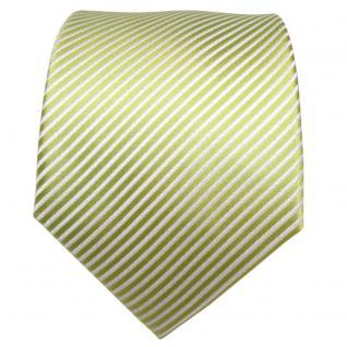 TigerTie Designer Seidenkrawatte grün hellgrün weiß gestreift - Krawatte Seide - Vorschau 2