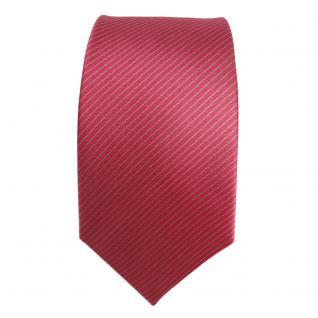 schmale Seidenkrawatte rot rosé grau gestreift - Krawatte Seide Silk Tie - Vorschau 2