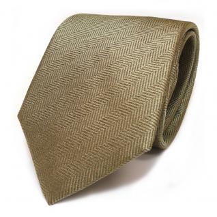Designer Seidenkrawatte gold olivgelb gemustert - Krawatte Seide Silk