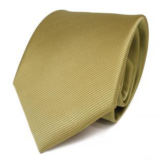 Feine Designer Krawatte - Schlips Binder grün hellgrün Uni Rips - Tie